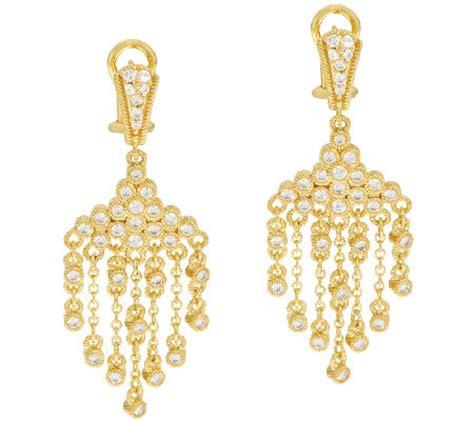 judith ripka sterling 14k clad diamonique drop earrings