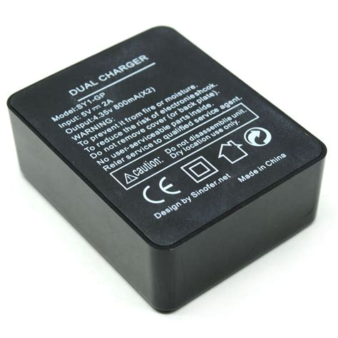 sinofer dual battery charger for gopro 4 black jakartanotebook