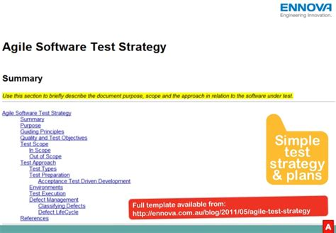 agile test strategy template charming agile test strategy template photos resume