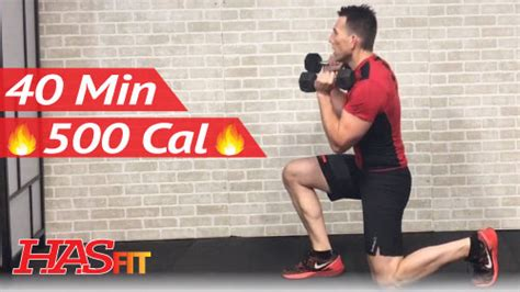 45 min advanced hiit workout with weights abs hasfit