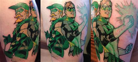 green arrow tattoo green lantern and green arrow by paulabstruse on