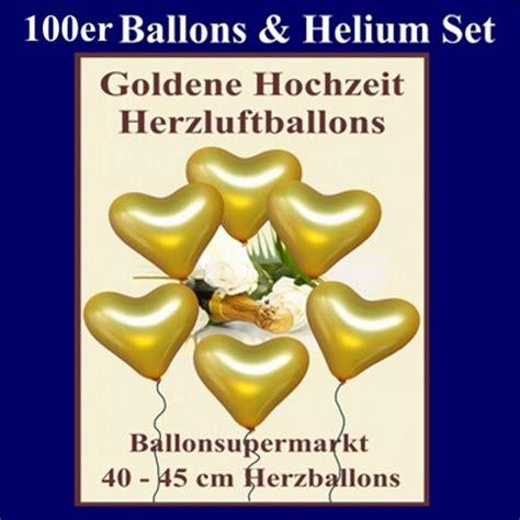 Goldene Hochzeit Set by Ballonsupermarkt Onlineshop De Herzluftballons Mit