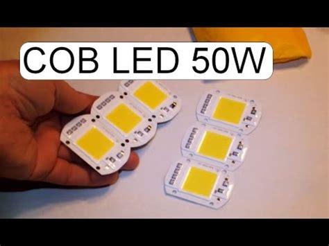 unboxing cob led with driver chip 220v 50w