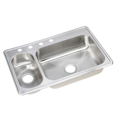 Dayton Kitchen Sink Elkay Dayton Drop In Stainless Steel 33 In 4 Basin Kitchen Sink Demr233224 The
