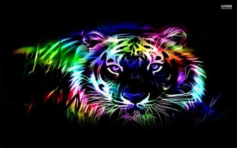 wallpapers of colorful animals hd abstract neon wallpapers abstract tiger neon