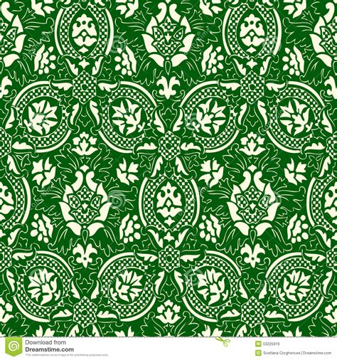 green vintage pattern wallpaper 10677 green and white seamless abstract floral pattern vintage
