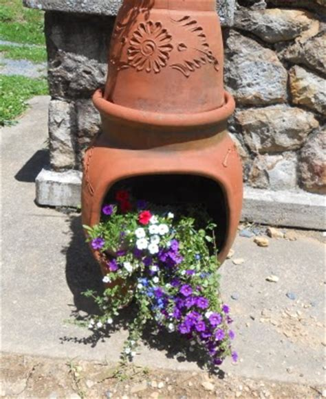 chiminea planter ideas this that and a more how to use an chiminea