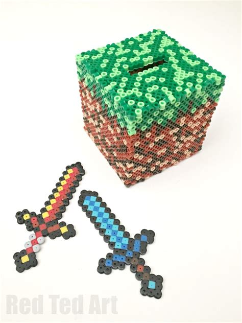 melty bead minecraft crafts perler bead moneybox 187 bezplatni obqvi