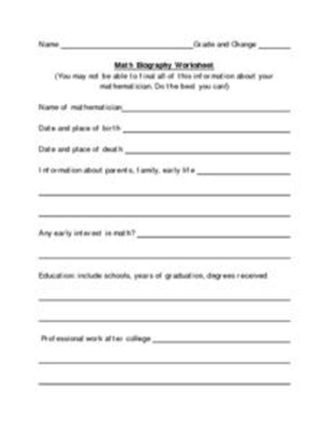 biography lesson plan 4th grade math biography worksheet worksheet for 4th 8th grade
