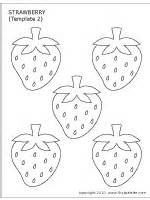 printable strawberry template strawberry printable templates coloring pages