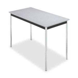 inginn cer utility table 48x24x29 chrome legs granite