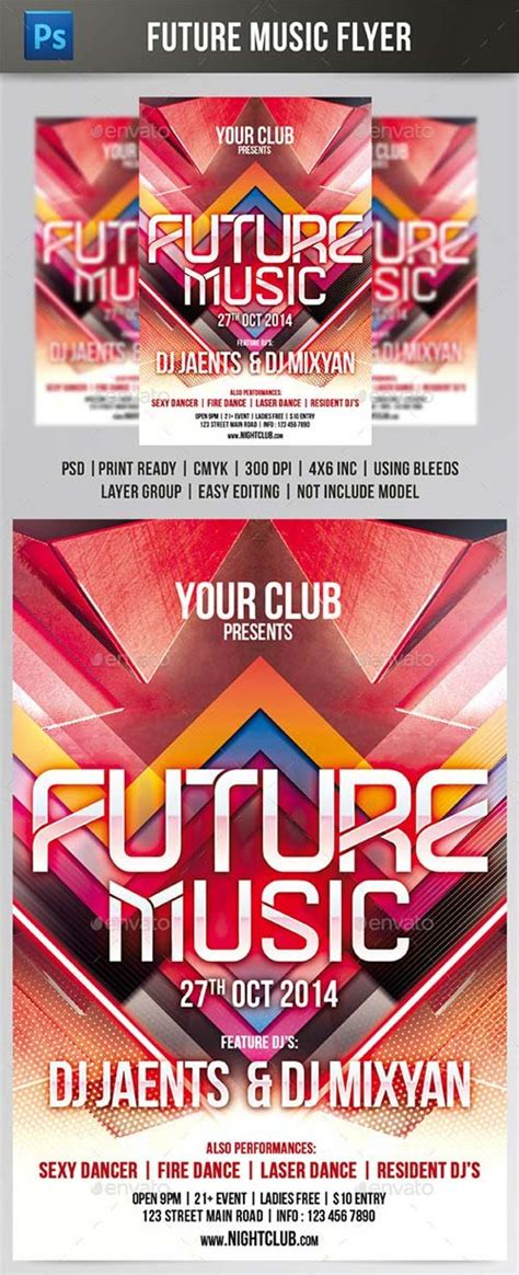 template flyer graphicriver flyer templates graphicriver future music flyer