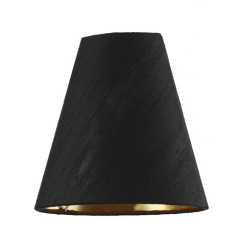 Black Silk L Shade With Gold Lining by David Hunt Lighting Doreen Black 100 Silk Shade With Gold Lining Lighting Type From