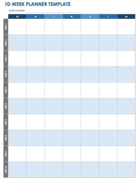 10 day calendar template free weekly planner templates weekly meal planner template