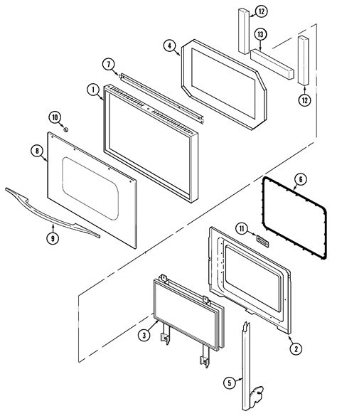 jenn air oven parts diagram jenn air w27100b electric wall oven timer stove clocks