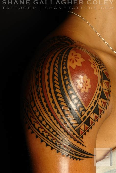 shane tattoo shane tattoos polynesian shoulder