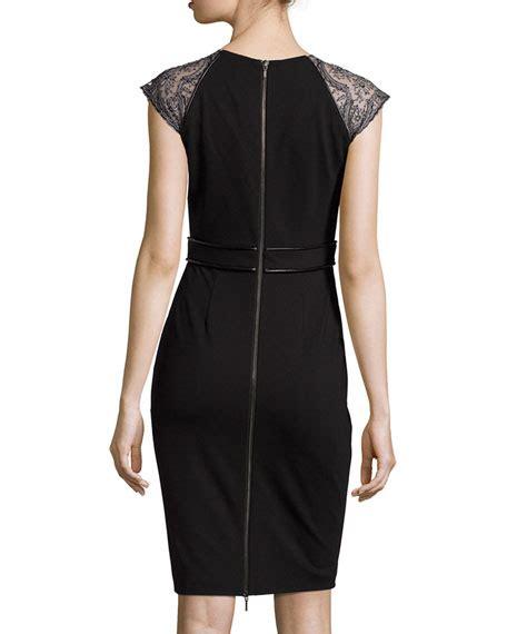Dress Vanya catherine deane vanya jersey dress with leather trim black