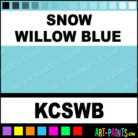 snow willow blue colors ink paints kcswb snow willow blue paint snow willow blue