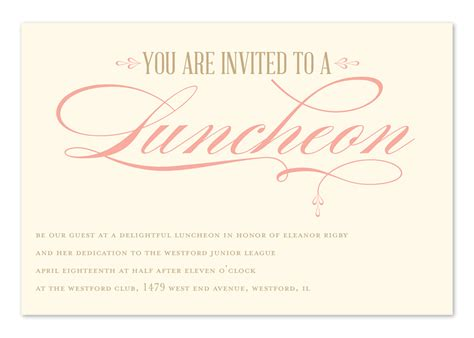 Luncheon Elegance   Corporate Invitations by Invitation