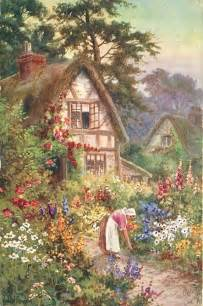 cottage garden paintings cottage garden my shire