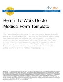 return to work notice template return to work template 28 images best photos of