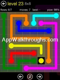 100 Floors Free Level 23 by Flow Free Answers Flow Free 8x8 23 Flow Free Answers