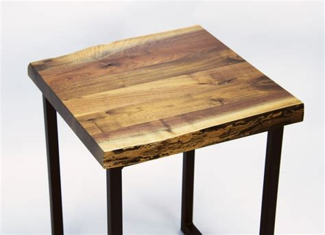 small walnut end table walnut live edge end table amish live edge coffee table