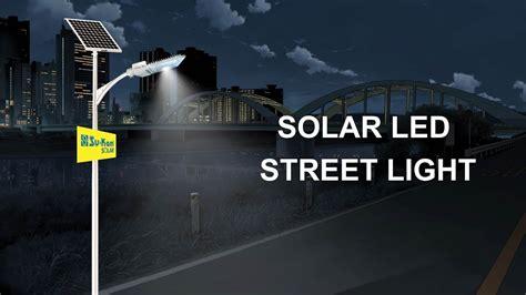 How Does A Street Light Work Solar Led Street Light Youtube How Does Solar Lights Work