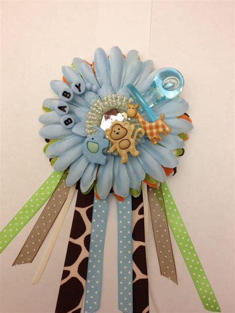Corsage Baby Shower Safari by Safari Jungle Theme Baby Shower Corsage For