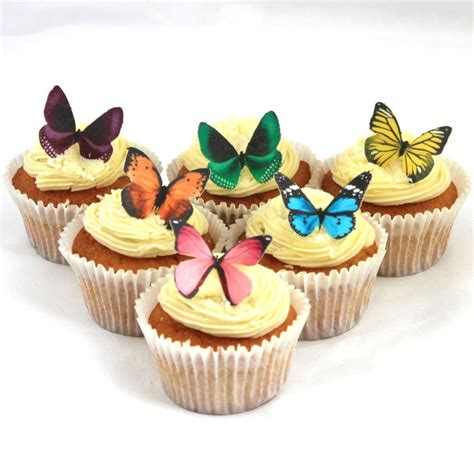 Edible Decorations For Cupcakes by Cakeshop Precut 12 Mixed Edible Butterfly Cake Cupcake
