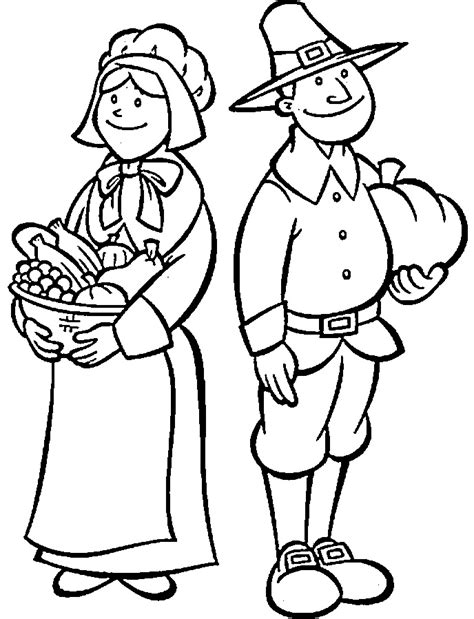 Free Printable Thanksgiving Pilgrim Coloring Pages L