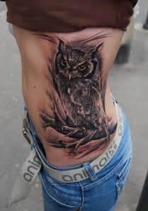owl tattoo ribs 56 amazing owl bird tattoos ideas
