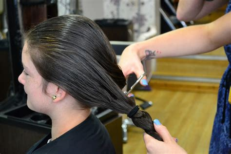 pony tail cut chloe having her ponytail cut isle of wight news from