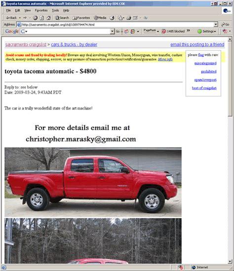 fake car ads  craigslist
