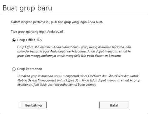 membuat email kantor membuat grup 365 kantor di admin center office 365