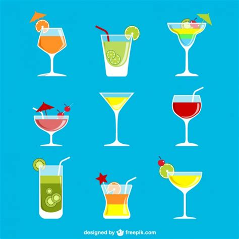 cocktail vector colorful cocktails vector premium