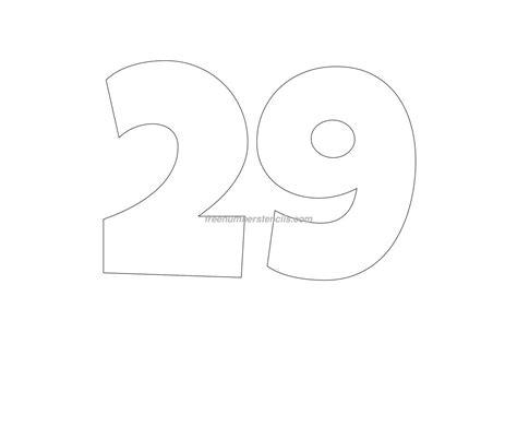 stencil template free 29 number stencil freenumberstencils