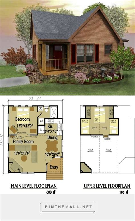 cabin floor plans small best 25 small homes ideas on small home plans