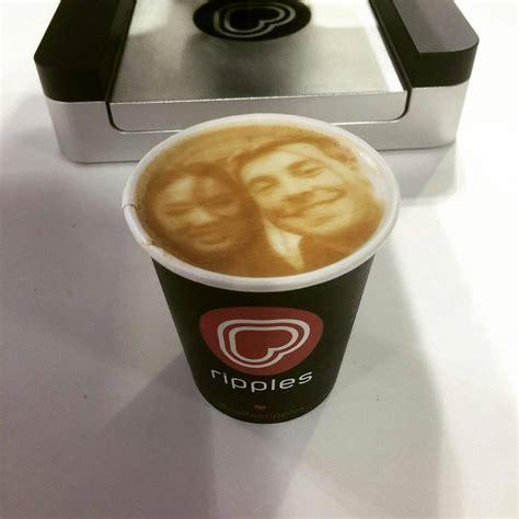 Mesin Kopi Ripple menarik mesin latte ini dapat mencetak wajah anda