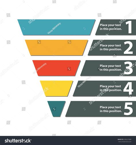 Funnel Symbol Infographic Or Web Design Element Template For Marketing Conversion Or Sales Email Funnel Templates