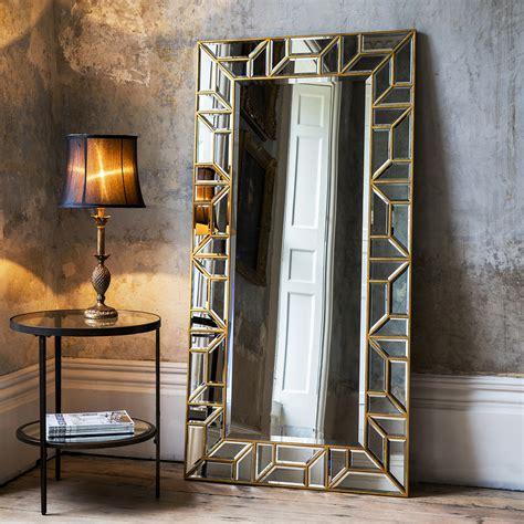 floor standing mirror with lights gold geometric floor standing mirror primrose plum