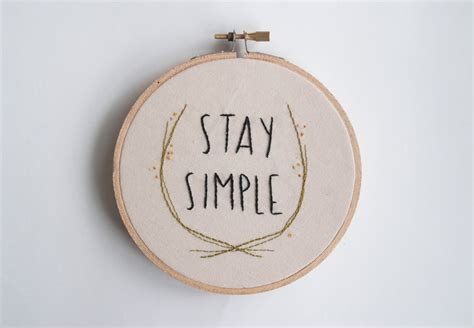 Stay Simple stay simple hoop embroidery quote embroidery pair