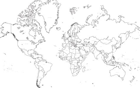 printable world map with countries black and white 35 x 22 inch black and white world map mercator