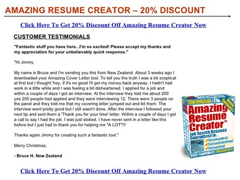 Amazing Resume Creator Software by Amazing Resume Creator Discount