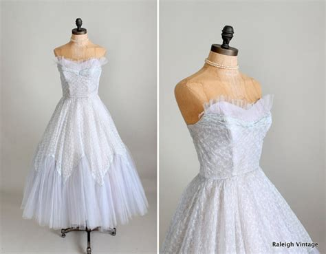 1950s dress 50s lace dress wedding dress alamondine vintage 1950s prom dress 50s ice blue tulle and lace prom