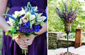 purple and blue wedding purple blue wedding color palette bridesmaids dresses bouquet onewed