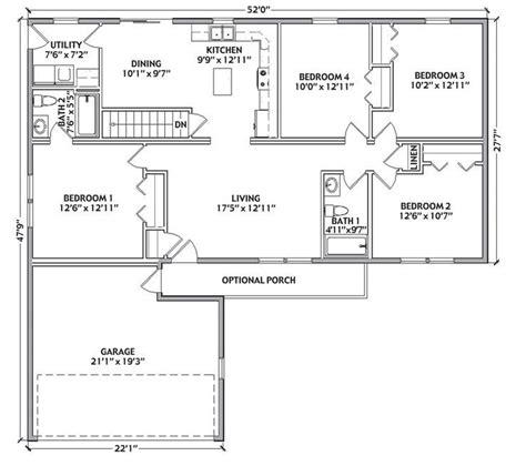 bryant floor plan bryant 1356 square foot ranch floor plan
