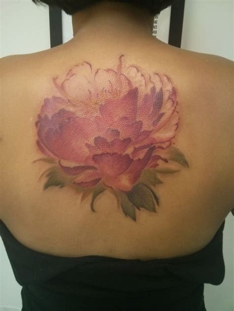 watercolor tattoo new hshire my new peony watercolor from derek at hartless