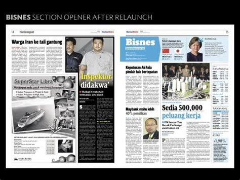 metro section of newspaper malaysia s metro a favorite colorful newspaper just got