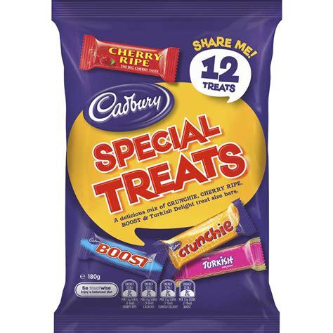 Cadbury Cherry Ripe 180g cadbury special treats sharepack 12pk 180g woolworths